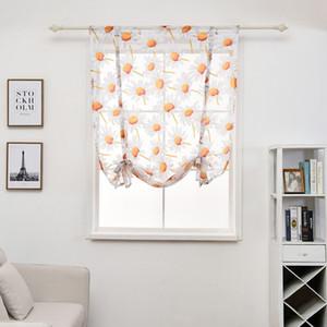 100 * 140см занавес цветок Printed Короткой Sheer Штора Простой Современная Спальня Гостиная Тюль Window Drape Valance Home Decor DBC DH0899-6