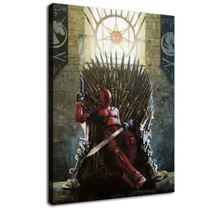 Deadpool Game of Thrones,Home Decor HD Print Modern Art Canvas (Unframed   Framed) 12x16&quot