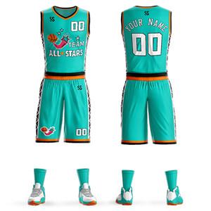 Barata de baloncesto Liga Colegio Establece los jerseys de competencia traje del equipo de capacitación uniformes a medida pantalones cortos ropa deportiva jersey
