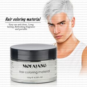 7 Teintures à usage unique couleur de cire colorant unique pâte à mouler Dye Sliver Mamie Vert Cheveux Cire Crème boue