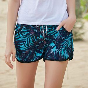 Summer Beach Swimwear Shorts Pants Men Women Printed Quick Dry Beachwear