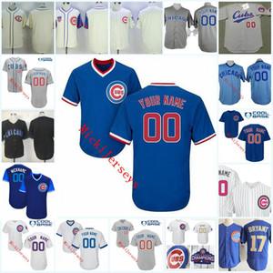 Hommes personnalisés Chicago Baseball Jersey Ryne Sandberg MARK GRACE SAMMY SOSA BOIS # 31 KERRY Maddux BOBBY BONDS Chicago Jersey