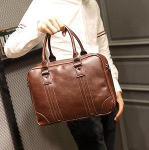 Business Retro Crazy Horse Leather borsa Crossbody mens tracolla in pelle uomini coreani valigetta portatile multifunzionale borsa del computer