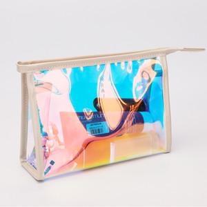 Láser Bolsas de cosméticos Mujeres Láser Maquillaje Bolsa Impermeable PVC Viaje Aseo Bolsa de Cremallera Organizador Bolsa de Almacenamiento Bolsas de Lavado GGA2048
