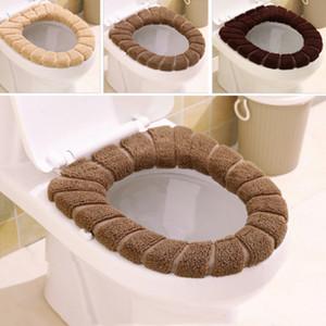 Famiglia WC cuscino Nordic copertura di sede peluche e ispessito caldo Toilet Cover peluche anello di prodotto a casa Cappotto Toliet caso