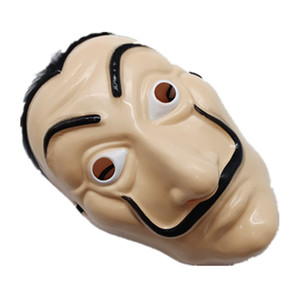 Dali in plastica Maschera di Halloween Casa di carta La Casa De Papel Decorazione Cosplay Mascherata Attrezzi divertenti