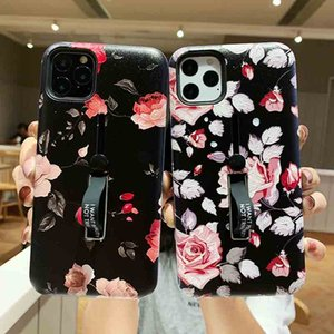 Phone Case for iPhone 11 Pro Max XS MAX XR Four Patterns Colors with Handheld Belt Protector For Samsung Note10 S9 S10 Plus