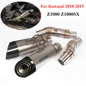 Slip On Para 2010-2019 Z1000 Z1000SX Motorcycle Exhaust System Piep Exhaust Muffler Dicas Mid Ligação Tubo Ninja1000 bicicleta