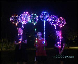 linea di LED sfera Bobo con manico del bastone Saluto sfera 3M String Balloons Lampeggiante per Natale compleanno di cerimonia nuziale del partito della casa Decoration Nuovo