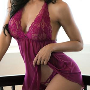 بالاضافة الى حجم مثير الرباط الملابس الداخلية ملابس داخلية شفافة Haltter بيبي دول المرأة أنثى جنس ازياء الملابس الداخلية مثير باس النوم