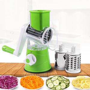 Cortador de verduras manual Slicer Multifuncional Mandolina Ronda Slicer Patata Queso Aparatos de cocina Accesorios de cocina