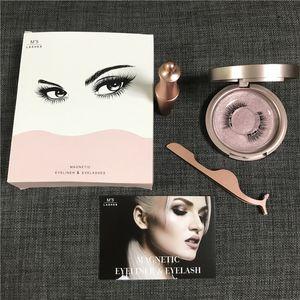 Magnetic Liquid Eyeliner & Magnetic False Eyelashes & Tweezer Set Magnet False Eyelashes Set Glue Make Up Tools