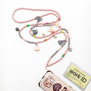 Fashion Schmuck Quaste Kristall Holz Pullover lange Halskette Statement Handy Arbeit ID-Ketten-Halskette Weinlese-ethnische Art