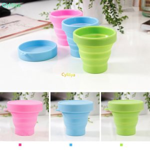 Travel folding cup telescopic cup silicone portable travel wash cup outdoor