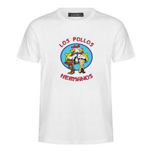 Moda masculina Breaking Bad Camisa 2018 LOS POLLOS Hermanos Camisetas Frango Irmãos de Manga Curta Tee Hipster Venda Quente tops MC34