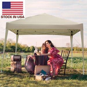 toldo de dobramento lançar prática outdoor partido tenda gazebo impermeável dobrável para camping abrigo de jardim ou fazer um piquenique com 2 portas 2 janelas de ações dos EUA