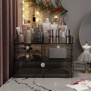 Net Red Ins Wind Transparent Cosmetic Storage Box Drawer Dressing Table Lipstick Skin Care Storage Rack