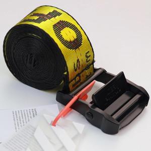 19SS nueva marca de moda de alta calidad tela del cinturón hombres blet ocio cinturón amarillo oro blanco bien hechos de lona de los hombres correas de las mujeres 120-200cm