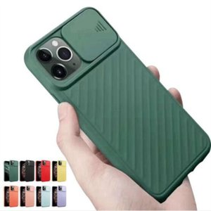 Push-pull Slider Window Camera Lens Protection Shockproof Soft TPU Case Cover for iPhone 11 Pro Max XS X XR 6 7 8 Plus