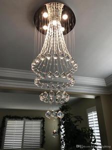 Cristallo moderno lampadario Raindrop illuminazione montaggio a filo della luce di soffitto Apparecchio per la Sala da pranzo Bagno Camera da letto Soggiorno