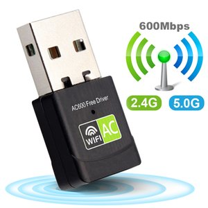 Rede de barato Cartões Wifi 600Mbps USB Wi fi Adapter 5GHz antena USB Driver de Ethernet PC Wi-Fi adaptador Wi-Fi gratuito Dongle de Rede