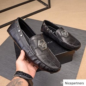 A1 9 estilo DesigneCalf Top Luxury Leather Men s Bussines Sapatos, slip-on Weddng Casual Sapatos de alta qualidade com