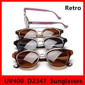 Round 2347 Fashion Brand Sunglasses Designer Classic Lunettes de vue Uv400 Rétro Cadre Nouveaux verres 4 avec boîte Couleurs NFRRXF