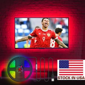 Stock In US + DC 5V RGB USB LED Strip Light 5050 3M 90LEDS LED Lights Rgb Leds Flexible Tape Ribbon with Bluetooth APP