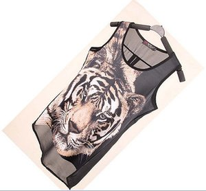 Neue Frauen reizvolle Sommer-beiläufige Tiger Leopard-Tierdruck Coole T-Shirts Tops SML