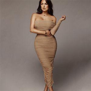 Diseñador para mujer atractiva del verano vestido de acoplamiento de la manera individual de la manga de hendidura hombro vestido de Split