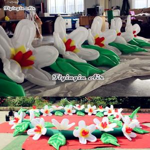 Cadena de flores inflables de iluminación 6m / 8m / 10m de largo Lirio simulado con tira de luz LED para decoración de bodas y fiestas