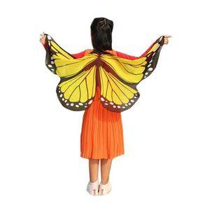 Nouvellement Design Butterfly Wings Pashmina Châle Enfants Garçons Filles Costume Accessoire GB447