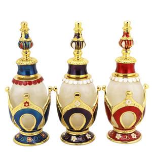 Botella de perfume de aceite esencial Botella de perfume al por mayor de vidrio esmerilado Botellas de líquido de 25 ml 3 colores para elegir