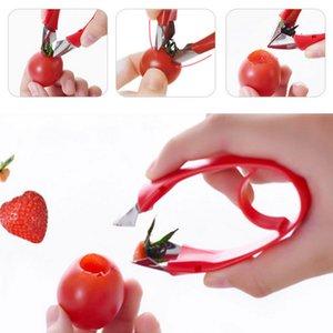 Dividir Fruit Corer Clipe morango descascadora tomate Stem Cozinha Ferramenta Food Acessórios Folha Remover folhas Remoção