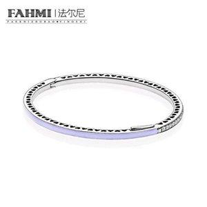 FAHMI 100% 925 plata esterlina 1: 1 original auténtico 590537EN66 encanto de la pulsera con cuentas de bricolaje básico adecuado joyería de las mujeres 11