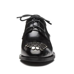 MORAZORA 2019 нового прибытие лакированных Oxfords обуви женщина круглый носок зашнуровать весну лето обувь удобной плоской обуви женщина