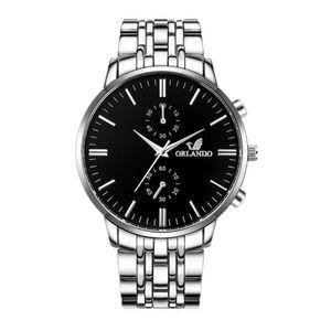 Hombres Reloj Reloj Hombre Masculino Relógio acero inoxidable Calendario reloj del cuarzo del reloj de los hombres del reloj de Ginebra Sports reloj @ 5