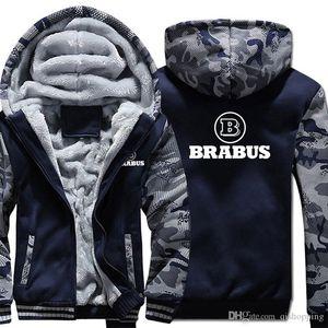 BRABUS con cappuccio Camouflage Cappotto invernale addensare pile di cotone cappotto di cachemire con cappuccio Zip di caldo taglia desiderata Felpa Sportswear US UE