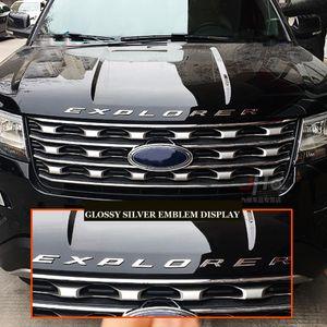 New DIY car 3D EXPLORER Fixed Letters Hood Emblem Chrome Logo Badge Sticker For 2011 2012 2013 2014 2015 2016 Ford Explorer Sport