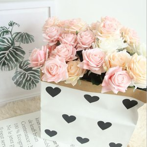 Real touch artificial flower rose silk flower living room home decoration flower wall wedding bedroom decoration bridal bouquet