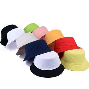 TOP Erkekler Panama Kadınlar Şapka balıkçı şapka Sokak DIY Taşınabilir Havzası Tide Siperlik Pamuk Hap için Katı Renk Kepçe Şapka Satıyoruz