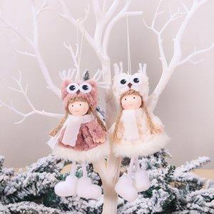 Decoração da árvore de Natal Mini Xmas Plush Angle Pendant Boneca bonito que pendura presente do ornamento do partido Home Decor 4 Estilos DHL WX9-1671