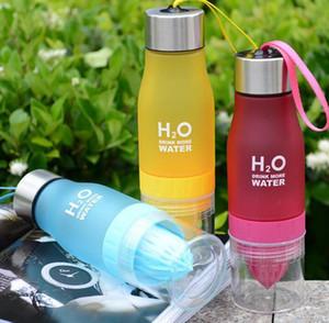 13Color Creative Fruit Juice Infuser Water Bottle Kettle 650ml H2O Plastic Portable Lemon Juice Bottle For Water Outdoor Shaker Sport bottle