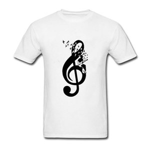 2019 The New T Shirt Men Business Friend Treble Clef Bass Guitar Player Electric Plectrum O Neck Tshirt Coton Hommes