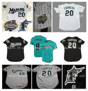 Individuelle Florida Jerseys Dawson SHEFFIELD Giancarlo Stanton Miguel Cabrera Dontrelle Willis Hanley Ramirez RODRIGUEZ Baseball-Shirts