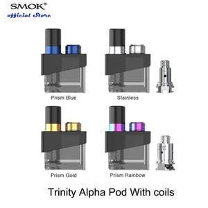 SMOK Trinity Alpha Pod Cartridge 2.8 مل مع لفائف Nord Nord MTL 0.8ohm Nord Mesh 0.6ohm