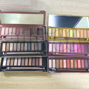 IN STOCK! newest NK makeup 6styles 12 Colors Professional Makeup Eyeshadow Palette With Brushes Makeup set DHL free