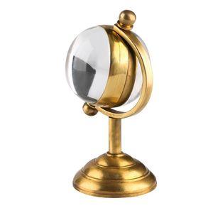 Spinning Globe Gold Desk Clock,Creative Home Decoration,Copper Table Clock Hand-winding Movement Pocket Watch for Men Women Friends
