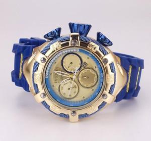 INVICTA Orologi d'oro di sport degli uomini quarzo Cronografo Automatico banda data l'orologio di gomma per il regalo maschio