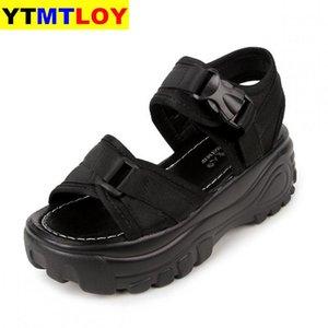 2020 Mulheres sandálias Slides Verão Sneakers Platform Wedges Mulheres Elevador Sapatos Ultra High Heels Sandalia Mujer 7CM